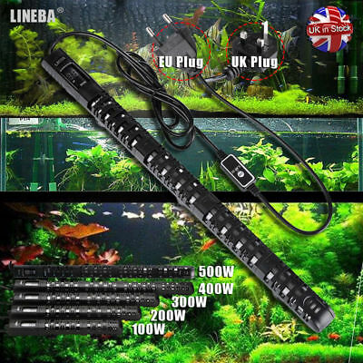 Digital Submersible Aquarium Heater Fish Tank Thermostat EU Plug 100W 400W 500W