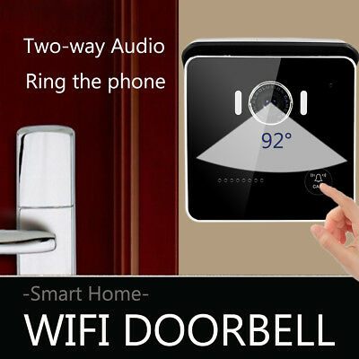 smart kabellos wifi video kamera t rklingel t rsprechanlage f r smartphone hs100 eur 58 99. Black Bedroom Furniture Sets. Home Design Ideas