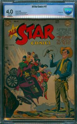 All-Star Comics # 47  The Ghost of Billy the Kid !  CBCS 4.0 scarce book !