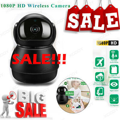 1080P HD Wireless WiFi PTZ IP Camera Security Motion Detection Night Vision US