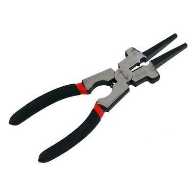 """8"""" 200mm Welding Tool Pliers Hammer Head Jaws Spring Loaded Soft Grip"""