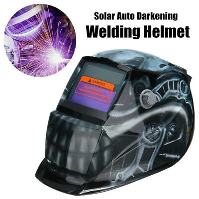 3 Lens + 1 Bag + Solar Automatic Darkening Welding Helmet Weld Mask Head Shield