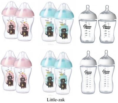 ULTRA Tommee Tippee Bottles Pink / Clear 260ml / 340ml