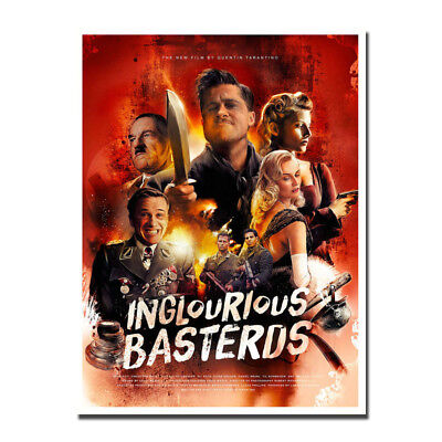 Inglourious Basterds Movie Silk Poster Wall Art Prints 12x16 24x32 inch