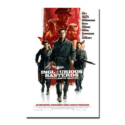 Inglourious Basterds Movie Silk Fabric Poster Wall Art Print 12x18 24x36 inch