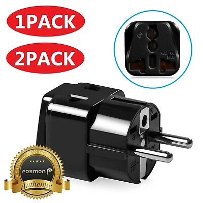 Universal US to Germany France Travel Wall Power Converter Adapter Type E F Plug