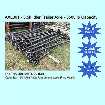 3.5K Trailer Idler Axles - 3500 lb 85 Hub Face 70 Spring Center.