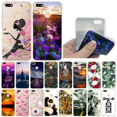 For Huawei P9 Lite Mini P8 P10 Lite Shockproof Soft Painted TPU Back Case Cover