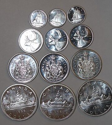 Canada Silver Coins Lot of 12 (80% Silver)