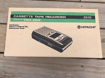 Vintage Hitachi Cassette Tape Recorder TRQ-289 Works Great