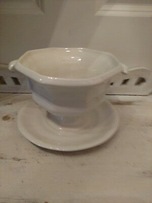 Iroquois China Henry Ford Museum Greenfield Village WHITE Gravy Boat