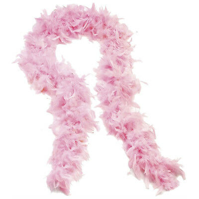 Feather Boa Thick Luxury High Quality Baby Pink  Party 80G Gatsby Flapper Uk