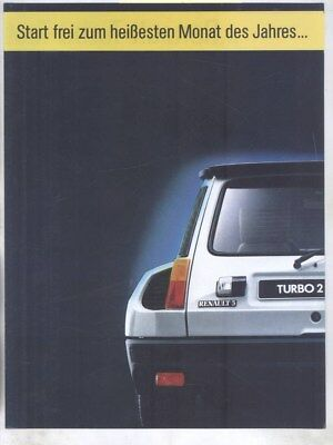 1984 Renault 5 Turbo 2 & Alpine Turbo Brochure German wy8603