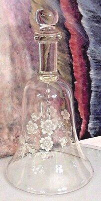 Big Glass Bell Clear Enamel Design Collectors Home Decor Decorative Collectables