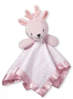 Small Security Blanket Deer Cloud Island Light Pink Nwt Baby Girls Novelty Lovey