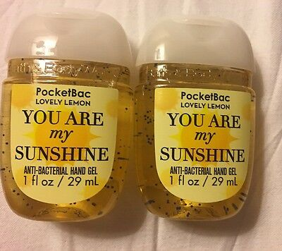 Bath and Body works Pocketbac Hand Gel You Are My Sunshine 2 X 29ml