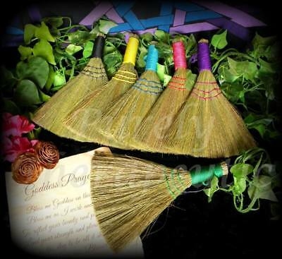 BESOM BROOM HEATHER SMUDGING CLEANSING Wicca Witch Pagan Altar Ritual Spell
