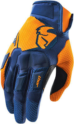 THOR MX Motocross 2015 FLOW Gloves (Navy/Orange) Choose Size