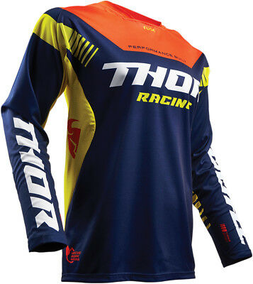 THOR MX Motocross 2017 FUSE PROPEL Jersey (Navy/Red Orange) Choose Size