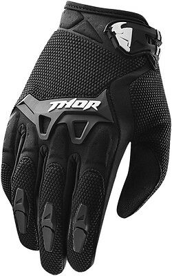 THOR MX Motocross 2015 SPECTRUM Gloves (Black) Choose Size