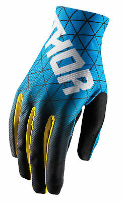THOR MX Motocross Men's 2018 VOID Vawn Gloves (Blue/Yellow) Choose Size