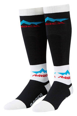 ICON Raiden XCP Performance Dual-Sport Motorcycle Socks (Blk/White) Choose Size