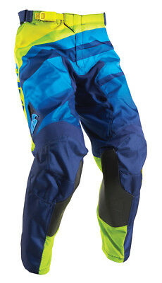 THOR MX Motocross Men's 2017 PULSE VELOW Pants (Navy/Lime) Choose Size