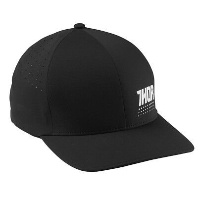 THOR MX Motocross 2017 AKTIV Flex-Fit Curved Bill Hat (Black/White) Choose Size