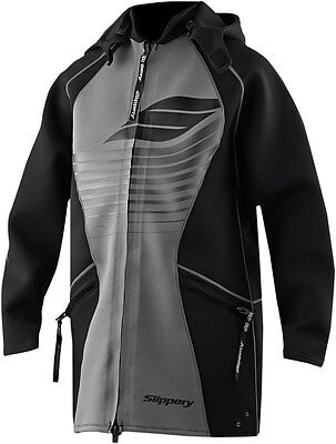 SLIPPERY Wetsuits - Men's Neoprene Tour Coat (Black) Choose Size