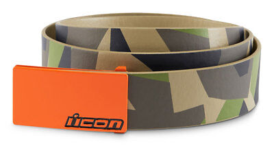 ICON Deployed Polyurethane Belt w/ Cast Aluminum Buckle (Camo) Choose Size