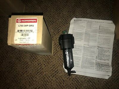 "NORGREN 3/8"" OIL-FOG LUBRICATOR PN: L73C-3AP-QRQ NEW Compressed Air 250psig"
