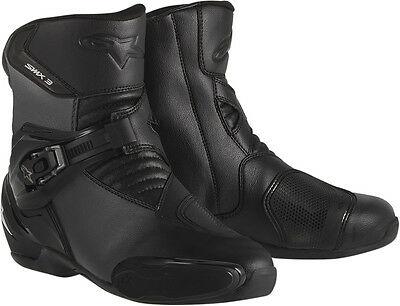 ALPINESTARS SMX 3 Low-Cut Road/Street Motorcycle Boots (Black) Choose Size
