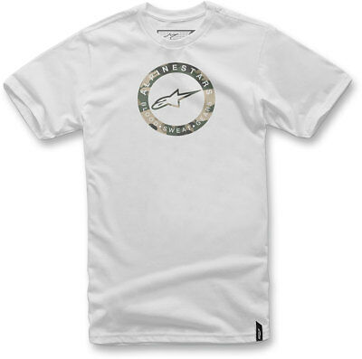Alpinestars Casuals 2018 RING Short-Sleeve Tee T-Shirt (White) Choose Size