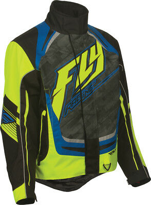 FLY RACING Snow Snowmobile - 2016 SNX Pro Jacket (Hi-Vis/Blue) Choose Size