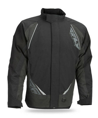 FLY RACING Snow Snowmobile 2017 AURORA Insulated Jacket (Black/Grey) Choose Size
