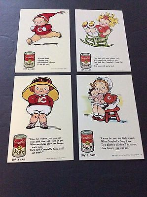 Lot of 4 CAMPBELL KIDS Postcards Classico San Franciso CAMPBELL SOUP