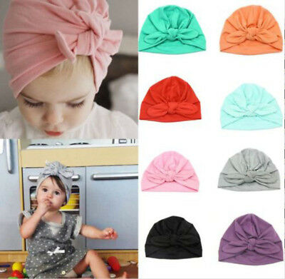 Boy Baby Girl Infant Newborn Winter Warm Beanie Cotton Wrapped Cap Turban Hat