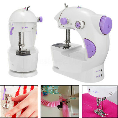 Portable Multifunction Mini Electric Household Sewing Machine Double Speed White