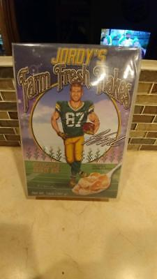 Jordy Nelson FARM FRESH FLAKES Cereal Collectible UNOPENED Box GREEN BAY PACKERS