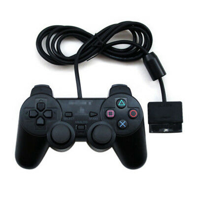 Blue/Black Dual Twin Shock Game Controller Joypad Pad for Sony PS2 Playstation 2