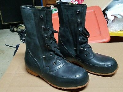 Vintage USN Extreme Cold Weather U.S. Military Mickey Mouse Boots size 10D