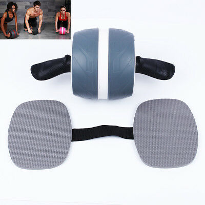 Fitness Abdominal Carver Pro Exercise Wheel Roller With Pad Abs Workout Gym Grey