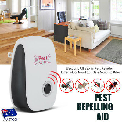 Pest Repeller Ultrasonic Electronic Non-Toxic Safe Mosquito Insect Killer AU KK