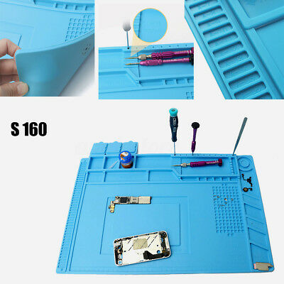 Soldering Repair Maintenance Work Platform Heat Insulation Silicone Desk Pad Mat