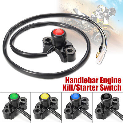CNC Motorcycle Engine Stop Start Kill Switch Button Pit Dirt Bike ATV Enduro