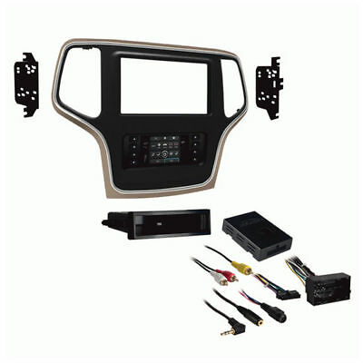 METRA 99-6536BZ Single/Double DIN Dash Kit for 2014-Up Jeep Grand Cherokee