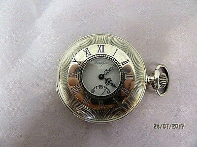 Swiss Silver Half Hunter Pocket Watch by Woodford