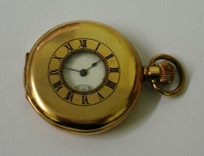 Waltham 'Traveler' Gold Plated Half Hunter Pocket Watch