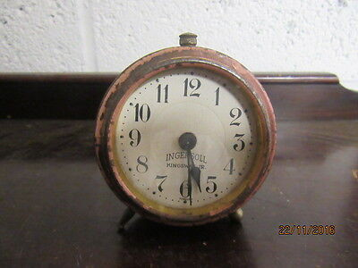 Upcycled Retro Quartz Clock In Working Order Ingersoll