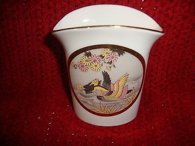 THE ART OF CHOKIN Small Japan Flower Vase with Birds Gilded Engraved 24K GOLD